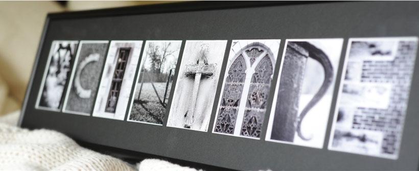 letter photographs
